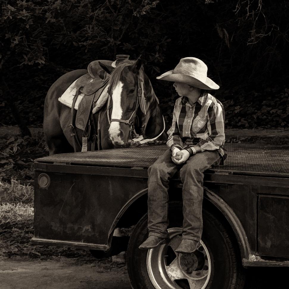 A Boy. A Hat. A Horse.