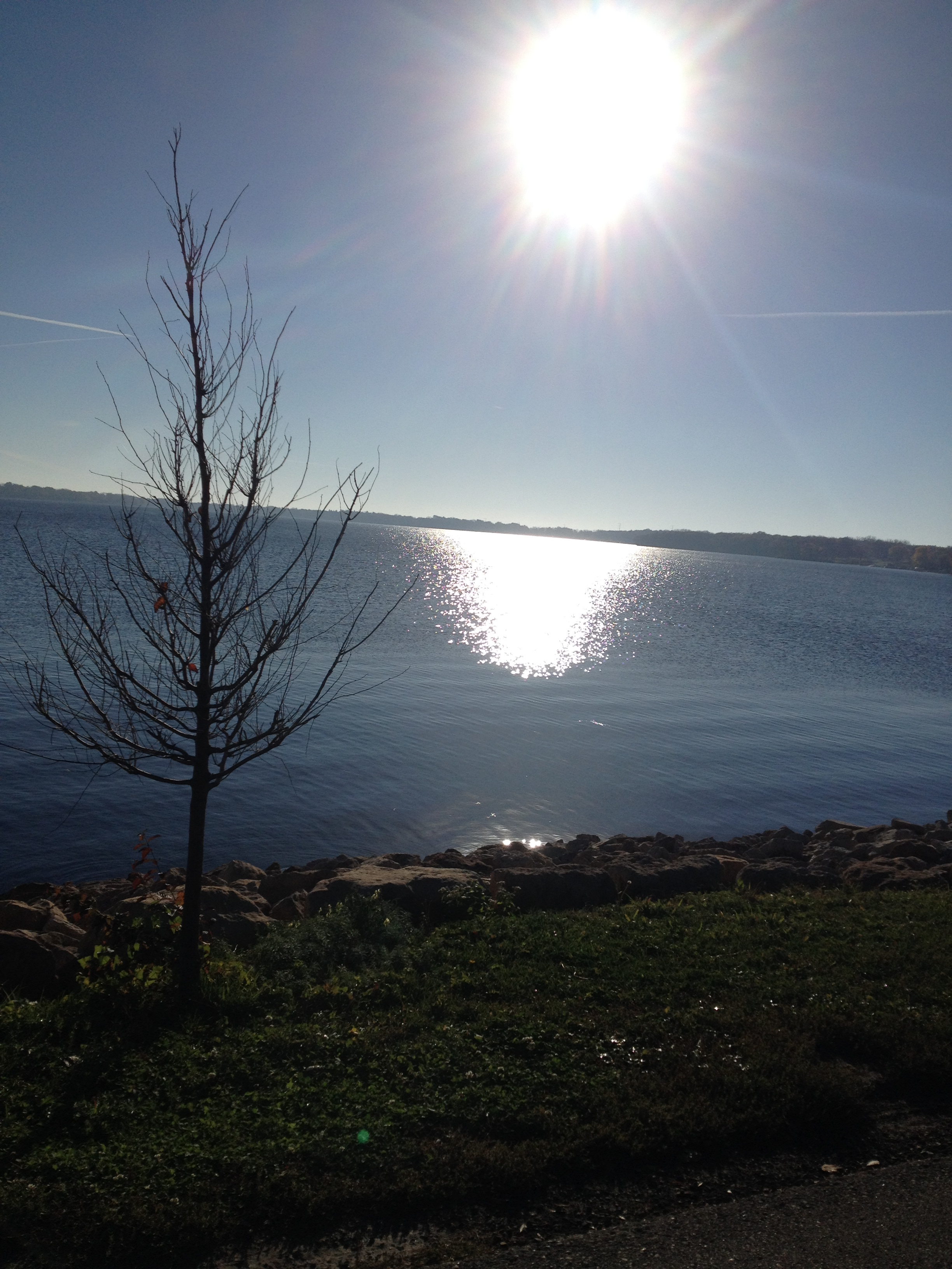 Shot of Lake Monona leaving Madison, WI on Day 1