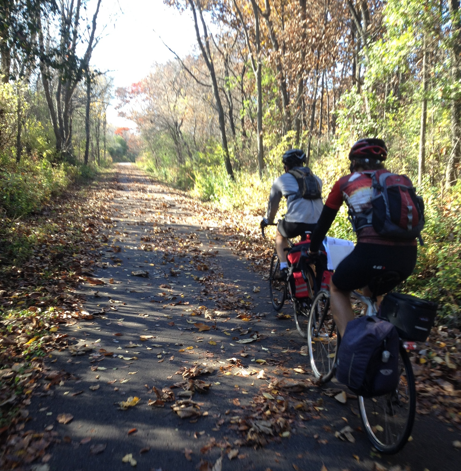 One of many bike paths in Madison. This one took us about 15 miles out of town on day 1 to start our adventure.