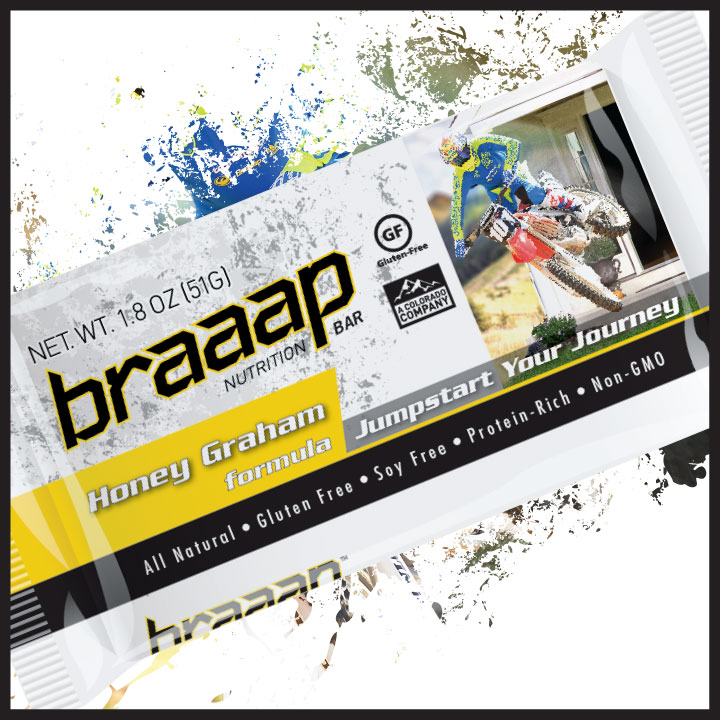 Braaap honey graham nutrition bar