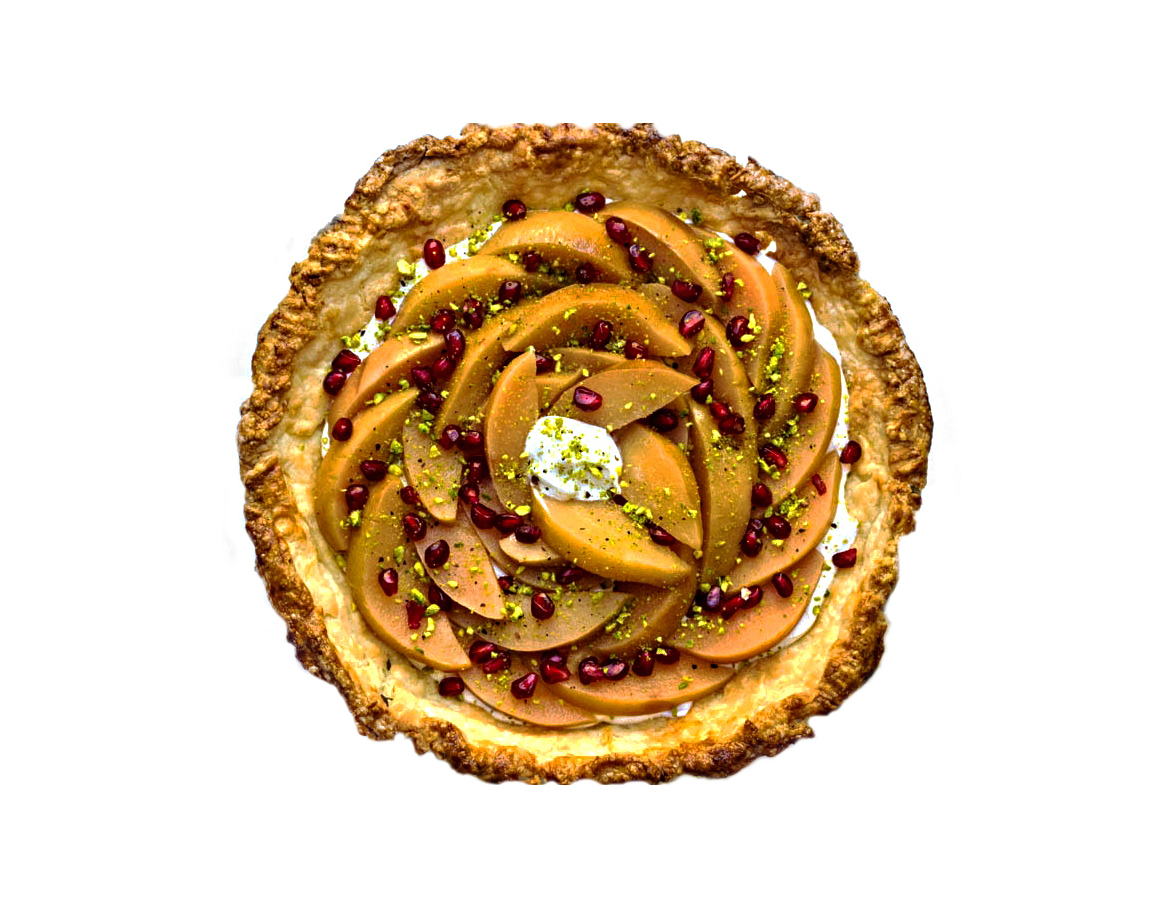 Naz's Quince and Labneh Pie