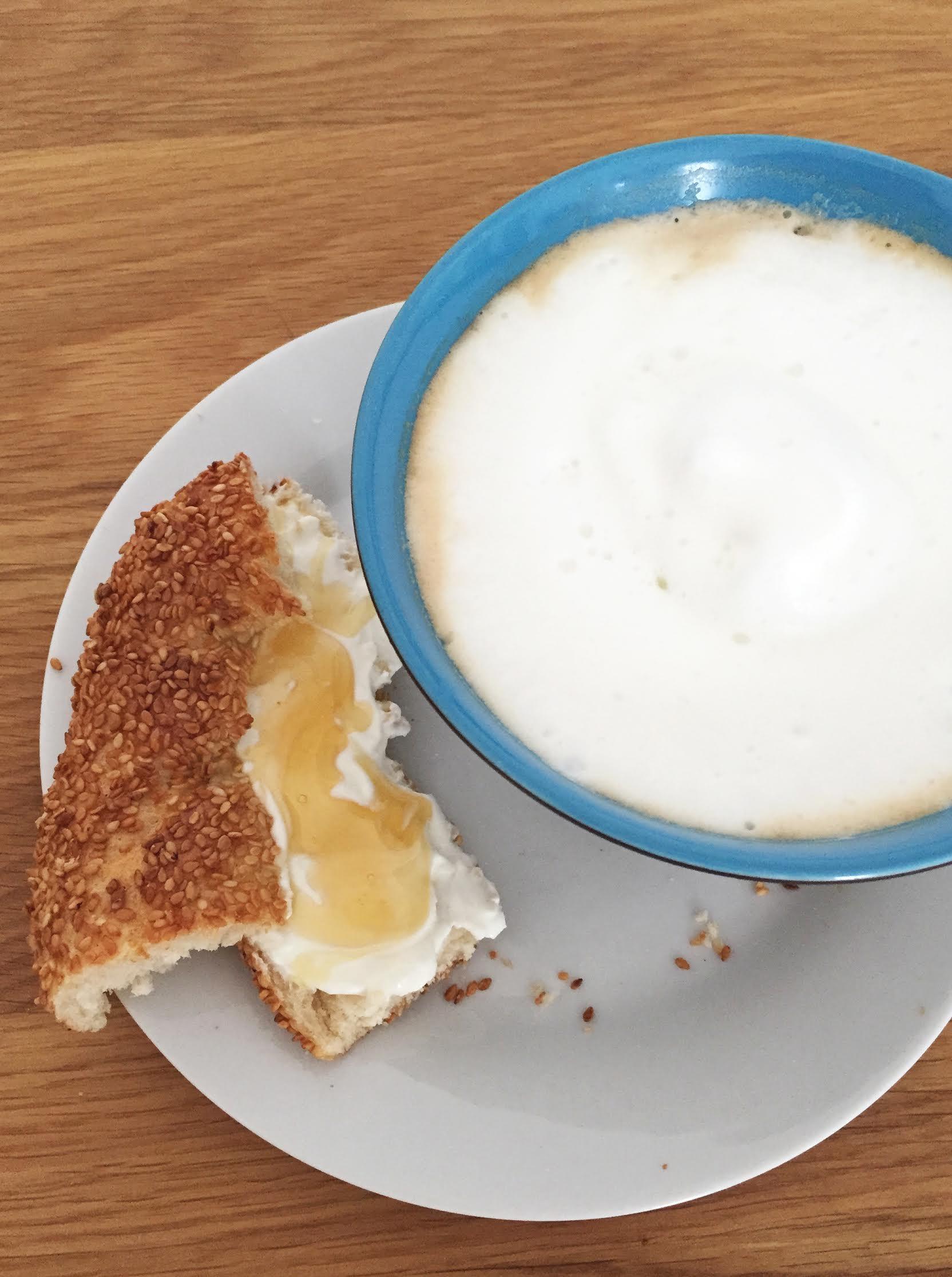 Austrian Coffee with Turkish Yogurt and Bread