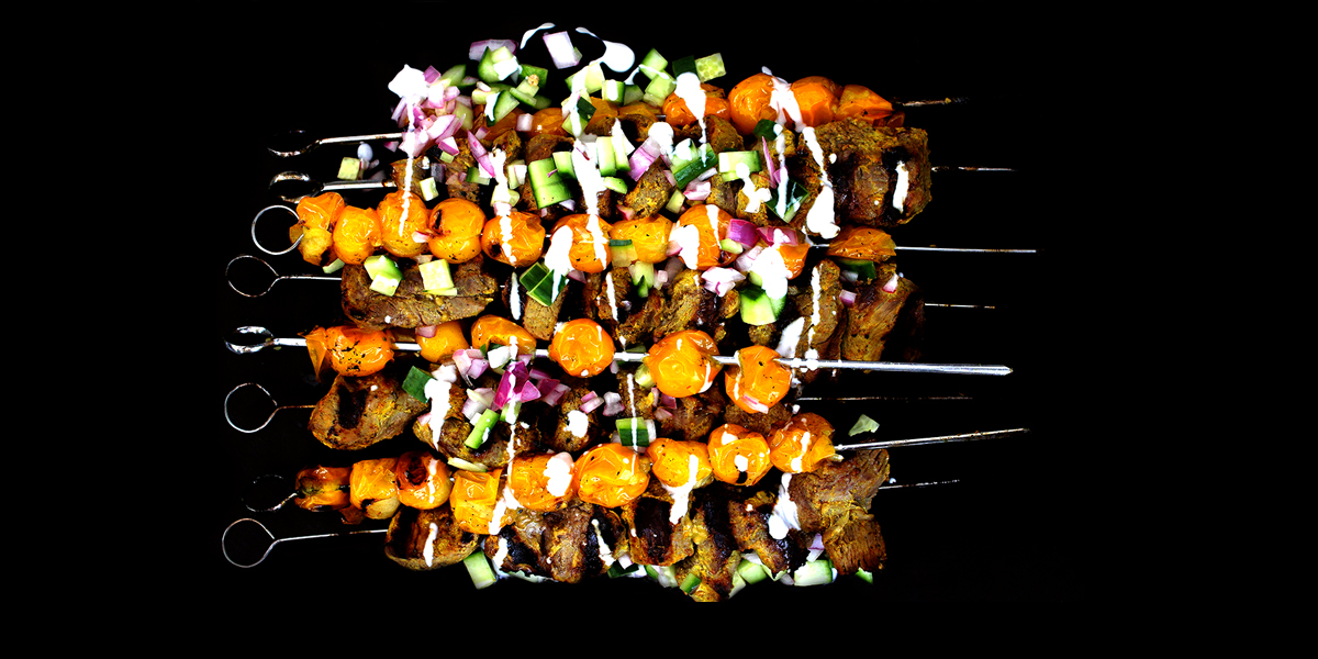 Cook | Golden Yogurt-Crusted Lamb and Tomato Kebabs