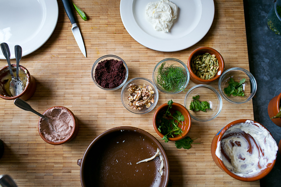 Herbs, spices, nuts, and yogurt at Seattle's Bar Sajor |  Read Our Travelogue and Profile of Seattle Chef Matt Dillon  | Photograph © Dylan + Jeni