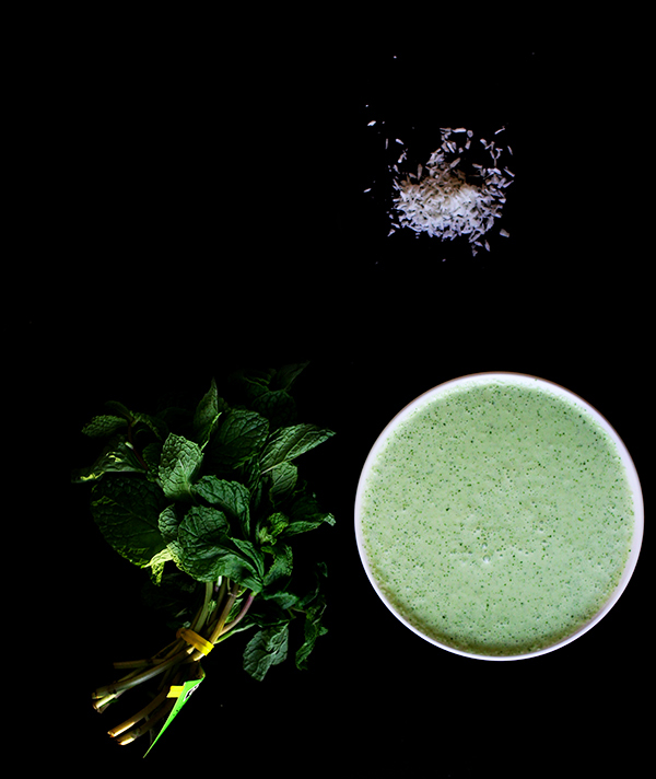 Coconut and Mint Yogurt Chutney from The Food of Oman by Felicia Campbell   Photograph © Cheryl Sternman Rule