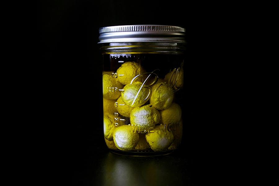 Labneh Spheres in Olive Oil