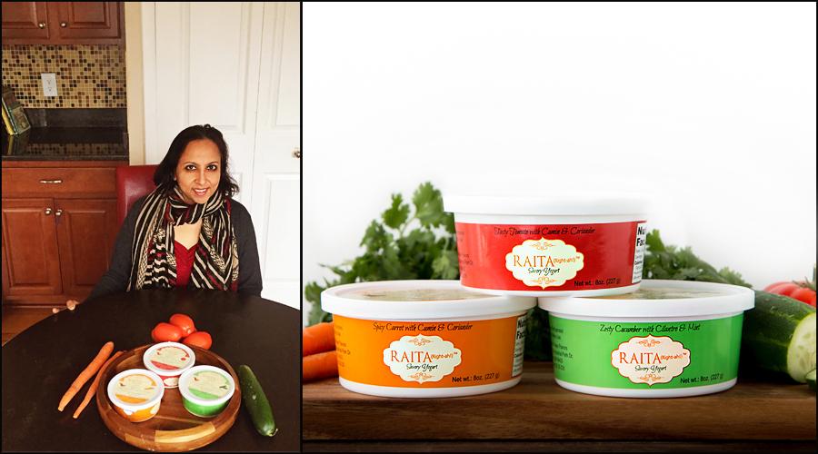 Harinee Sampath with Raita Yogurt