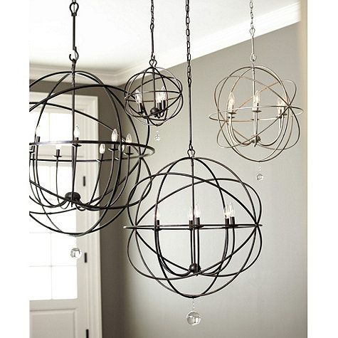 Metal Orb Chandeliers