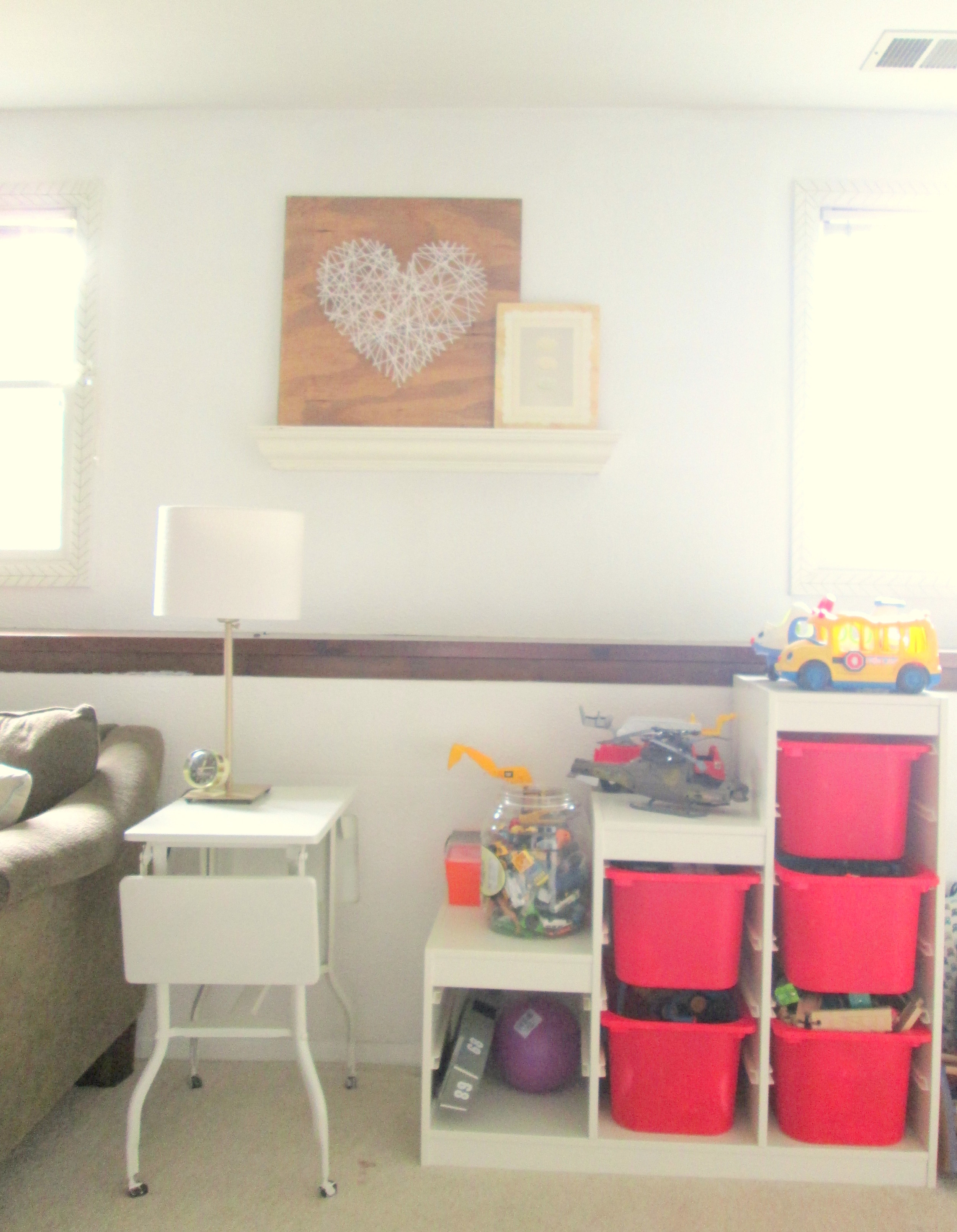 Before, with the IKEA TROFAST storage system