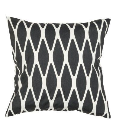 Charcoal Ikat Cushion Cover - $3.99
