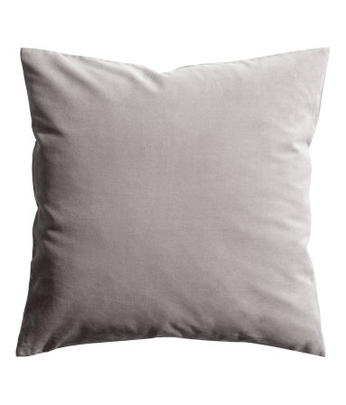 Grey Velvet Cushion Cover - $9.99