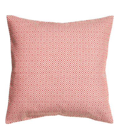 Orange Jacquard-weave Cushion Cover - $17.99