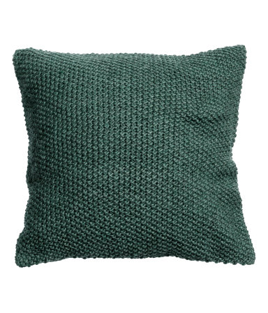 Dark Green Moss Knit Cushion Cover - $24.99