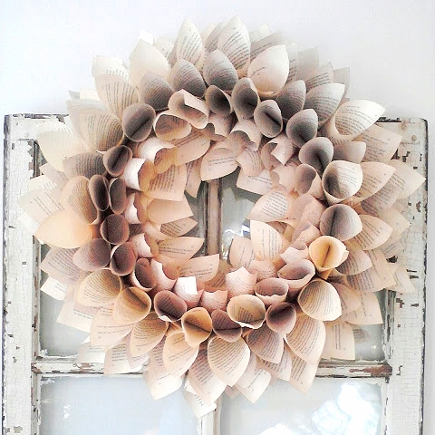 Bookpage Wreath