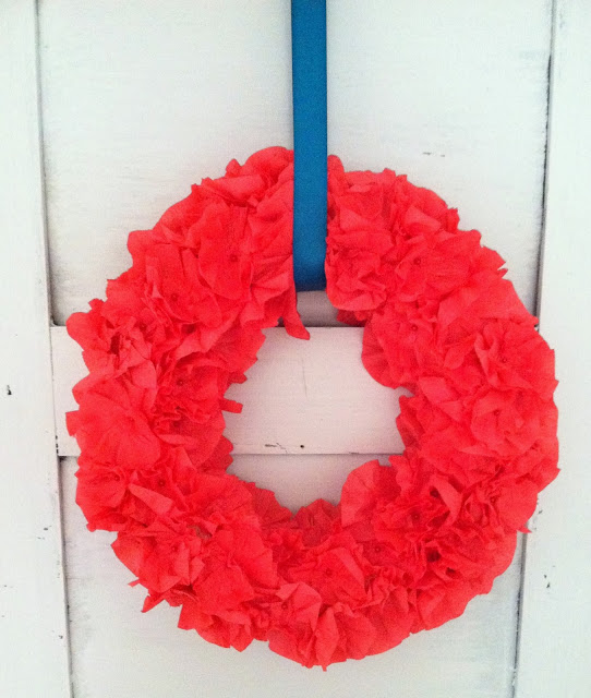 Crepe Flowers Wreath