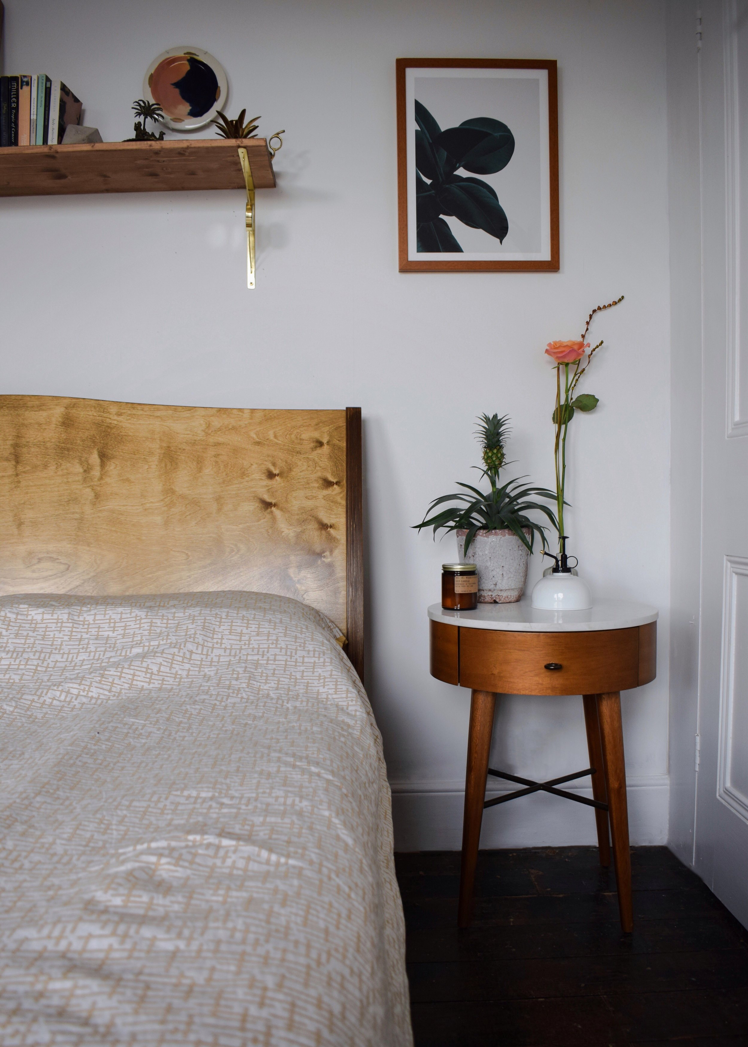 scandinavian rustic bohemian white nordic mid-century wood hygge bedroom.JPG