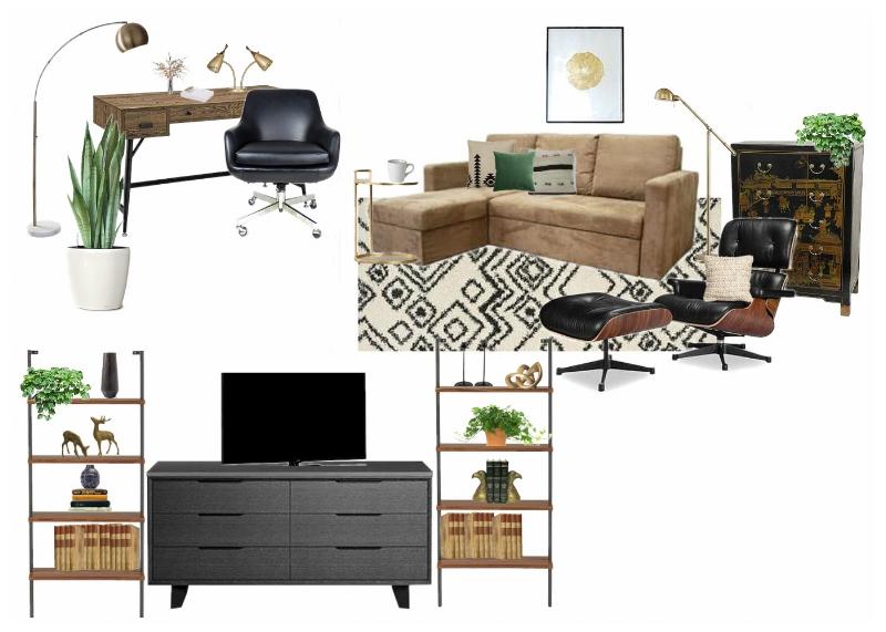 Living Room With Black Geometric Print Rug.jpg