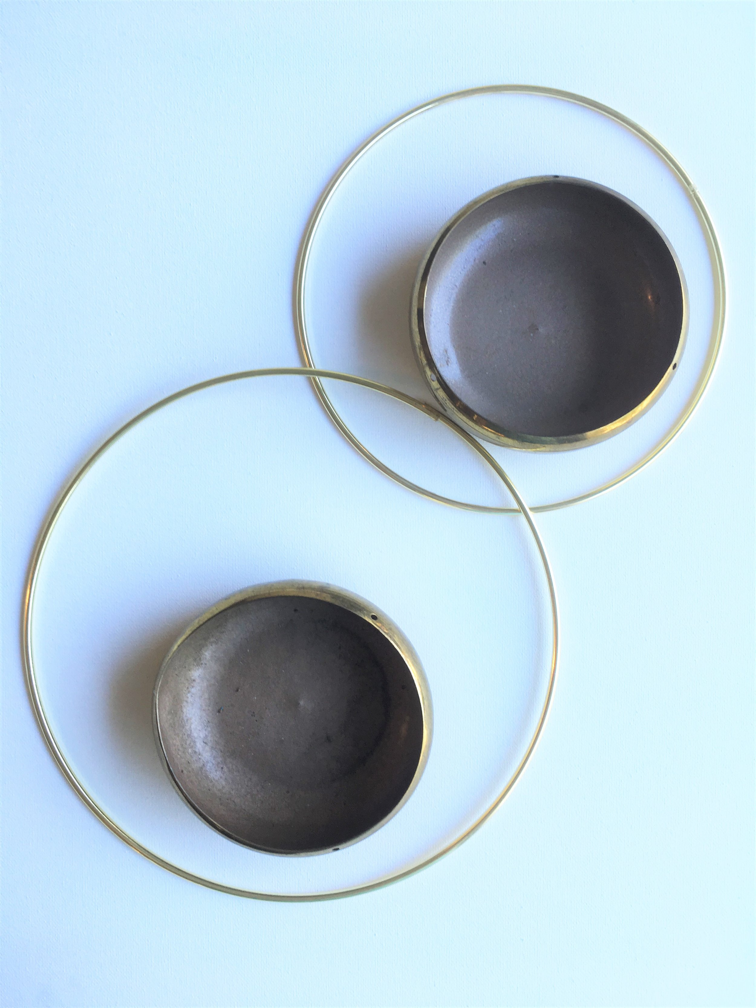 Supplies - Brass Bowls + Macramé Hoops