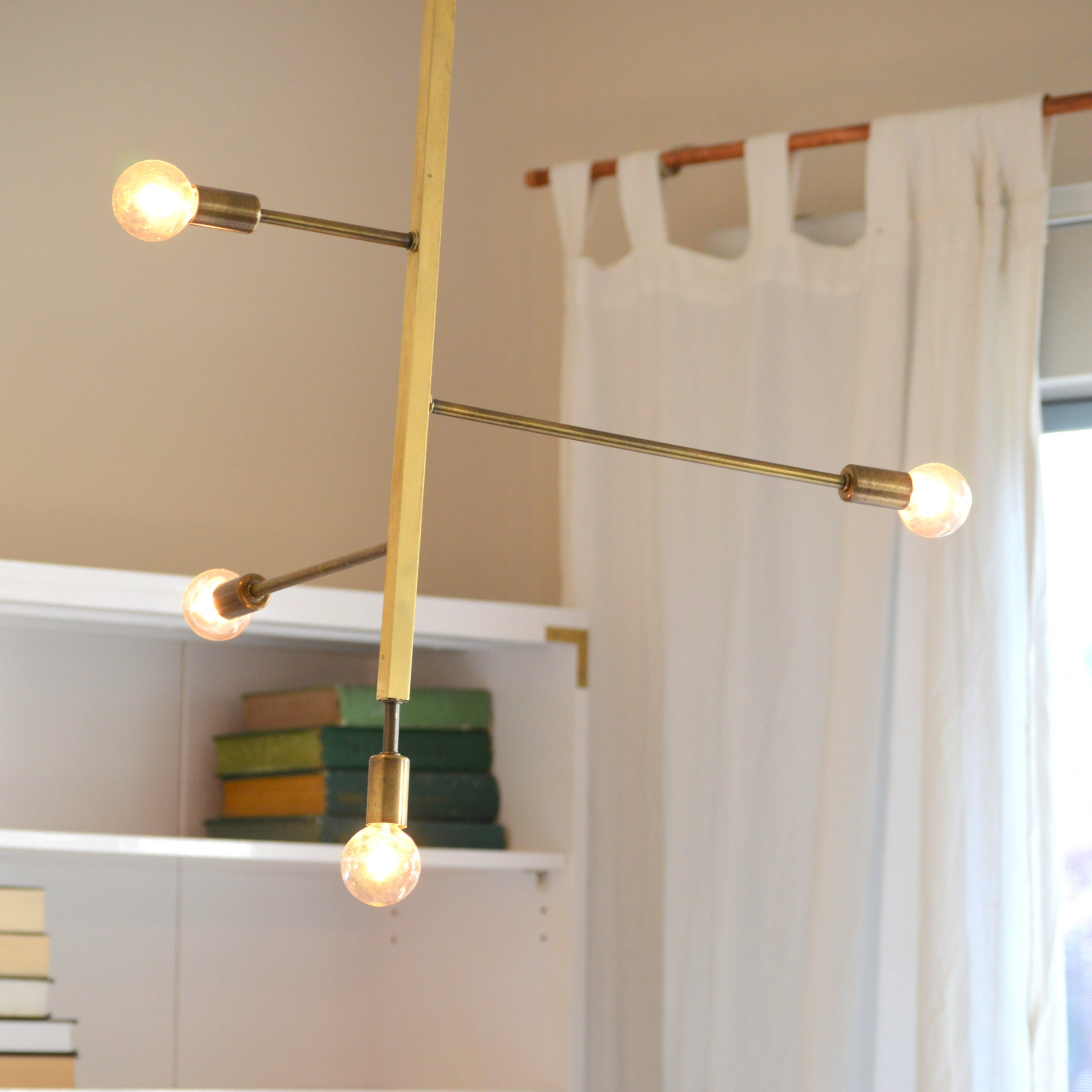 DIY Brass Chandelier -