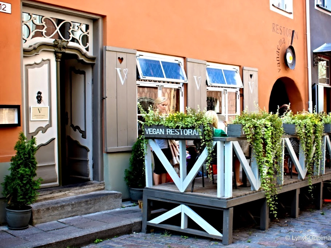 Exterior of the Vegan Restaurant
