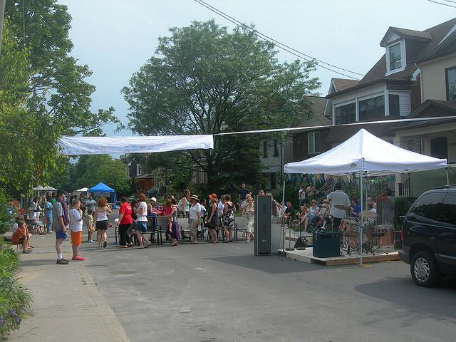 A street festival Clinton, Ontario