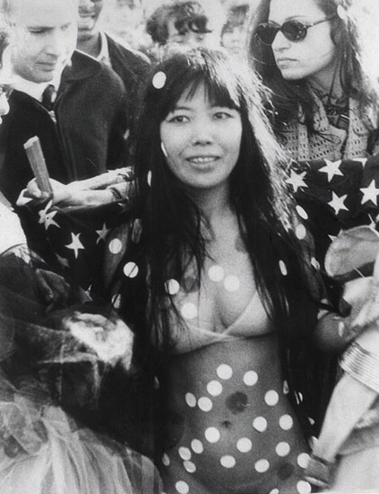 YayoiKusamaat a Love-in Festival in Central Park.   New York,  1968