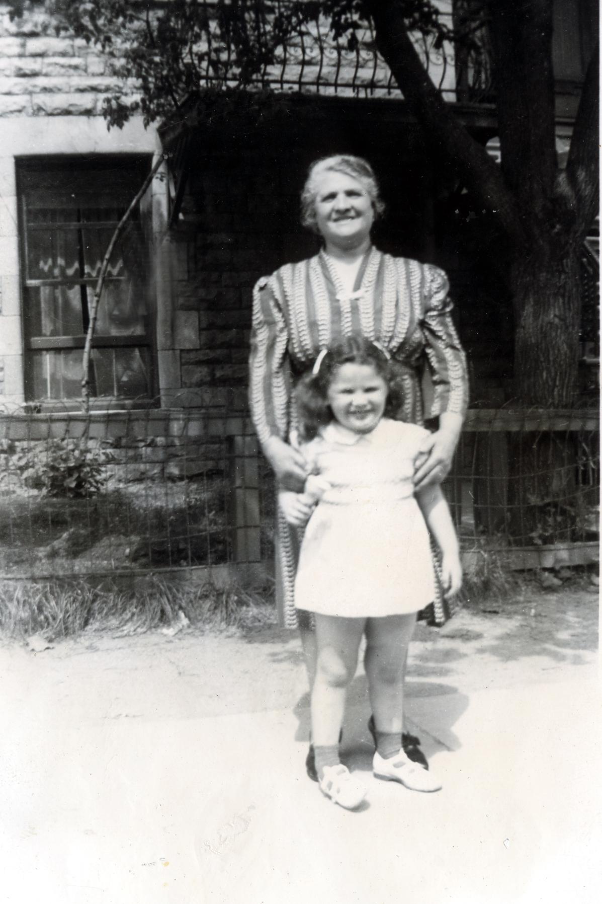 Grandma Fanny Solomon and me, 1942