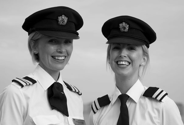 Sisters Cliodhna & Aoife Duggan, senior first officers British Airways Boeing 777 fleet Airbus A320 fleet. Photo: Nick Morrish/PR Company handout