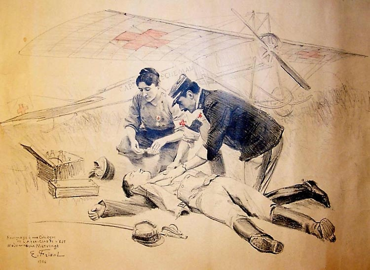 Sketch by Emile Friant, 1914