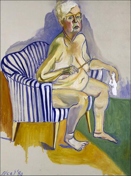 Alice Neel self-portrait, 1983