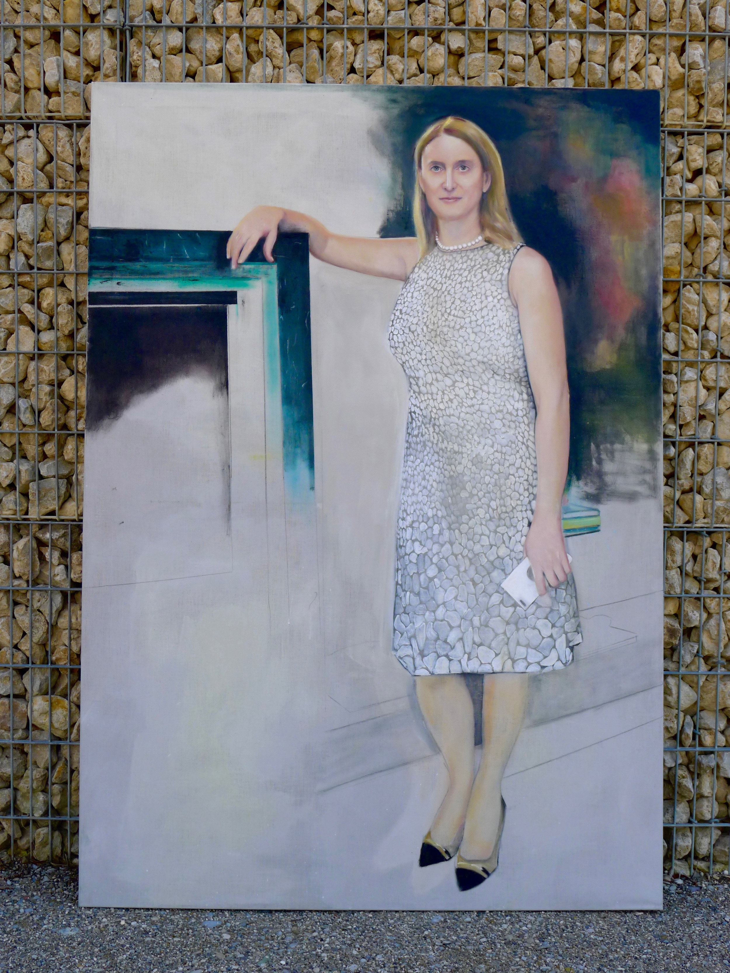 Ms Bea Knecht, Oil on canvas, 200x140cm - in progress