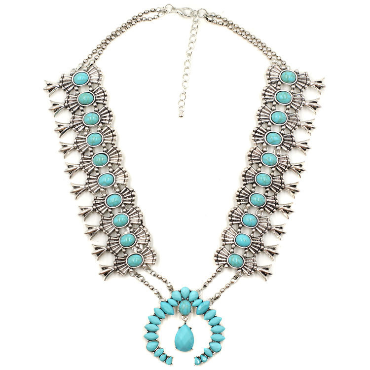 It may not be real turquoise (someday...someday...) but this is a hell of a cool  statement necklace . And at a price that I find hella cool, too.