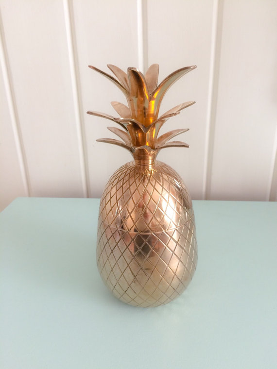 Brass pineapple container ...'nuf said.