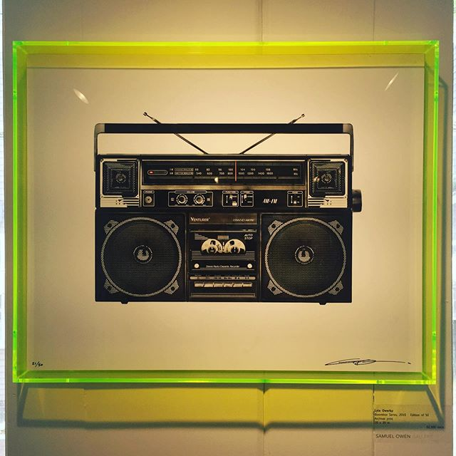 Pining for my 80's youth. #interiordesign #designinterior #lyleowerko #boombox #popart #popartstyle #nostalgia #art