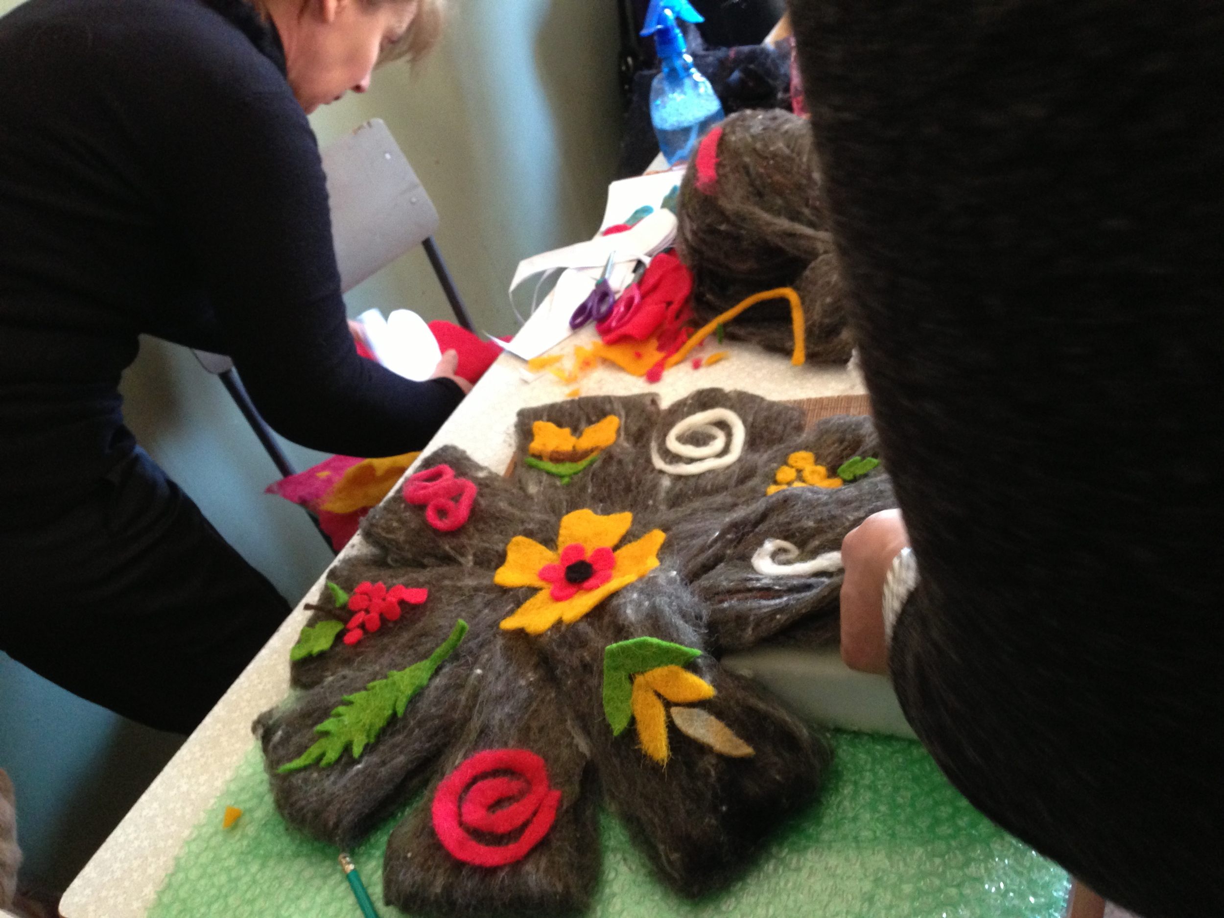 Felt book in progress, Alvani School, 2013