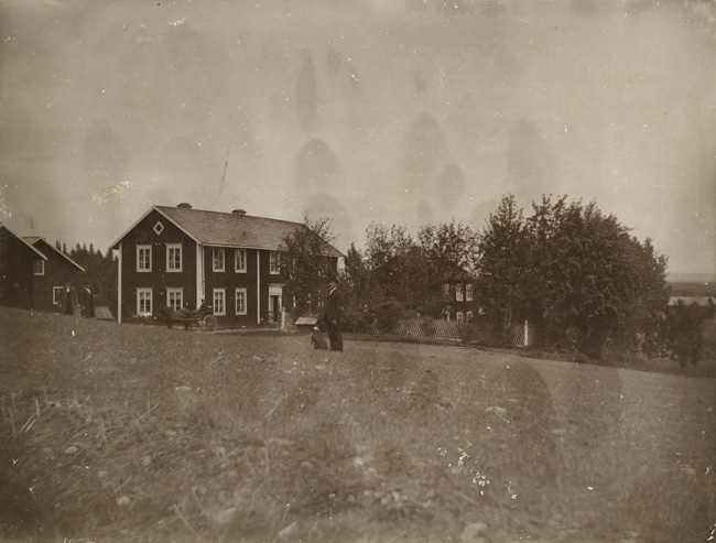 E. A. Persson pictured before his departure on the family homestead in Lit, Sweden, (1898-1900). I visited here in 1994 and stayed in the big two story farm house. The son of E.A. Perrson's brother, Nils Erik was still living. We drank Swedish beer and gin, ate   Lutfisk and chewed tobacco most days and nights.