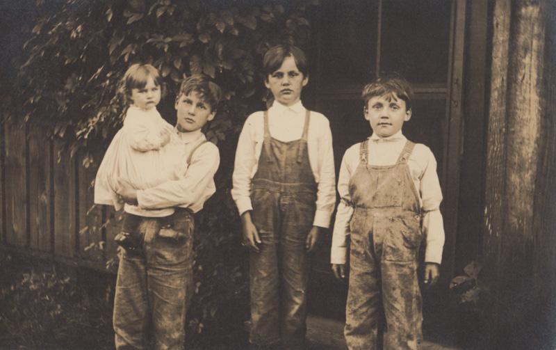 Edna, Harry, John and Henry Baldridge (Jack and Ben not pictured)