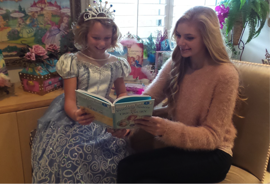 My oldest and youngest princesses, Megan Joy and Catherine