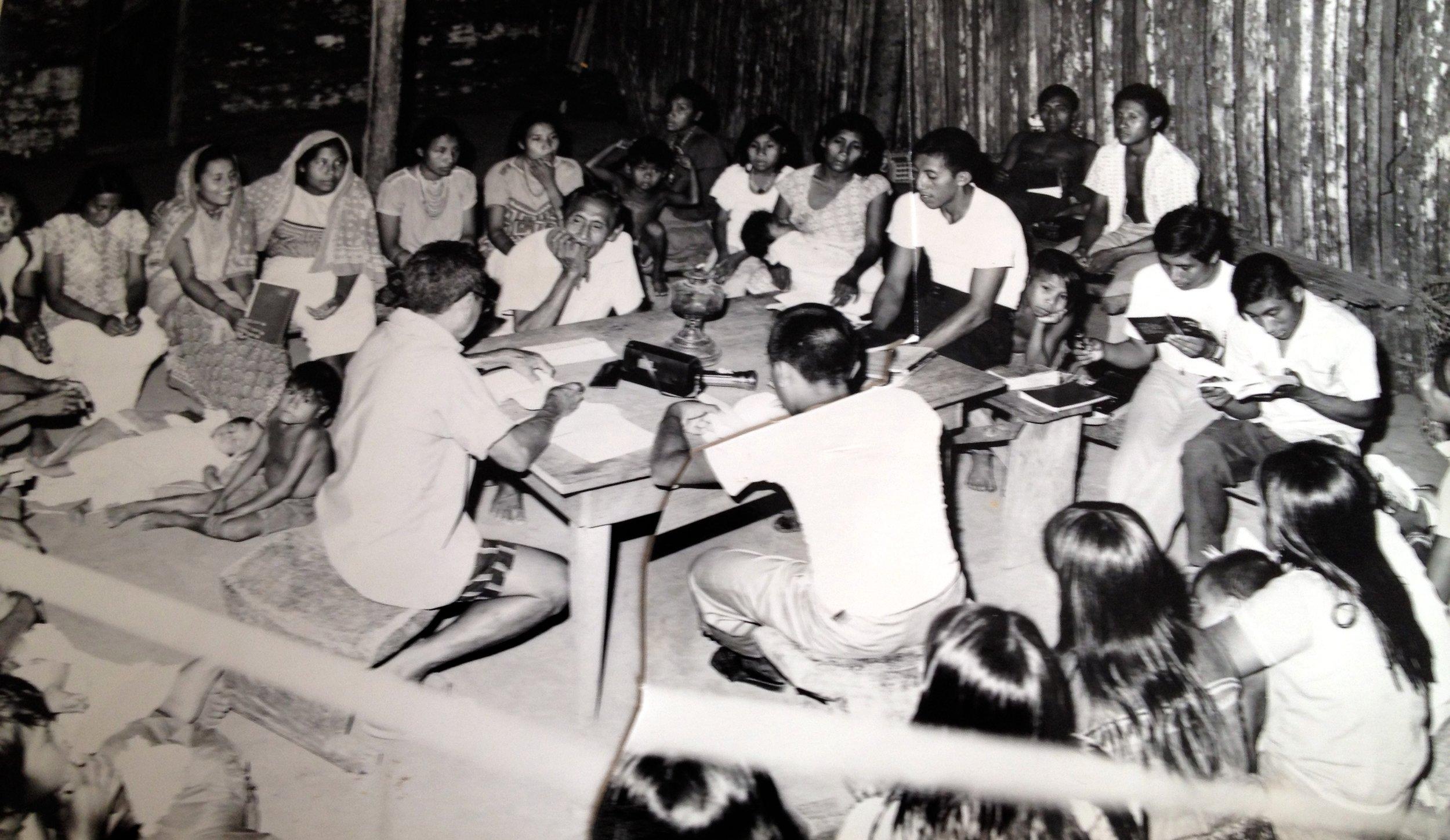 """Kuna Congreso""...a village church service"