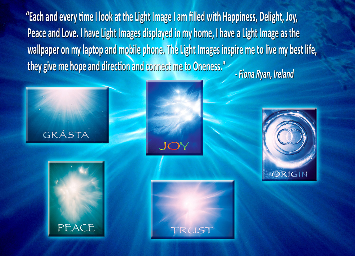 Fiona Ryan, Ireland. Loves the Ask the Light Miracle cards