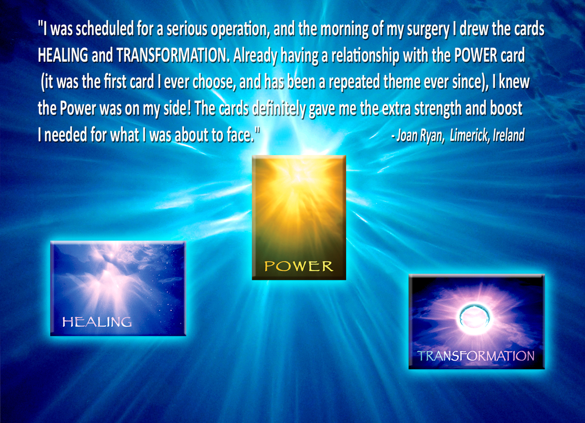 Joan Ryan of Limerick Ireland uses Miracle Light cards for Healing and inspiration