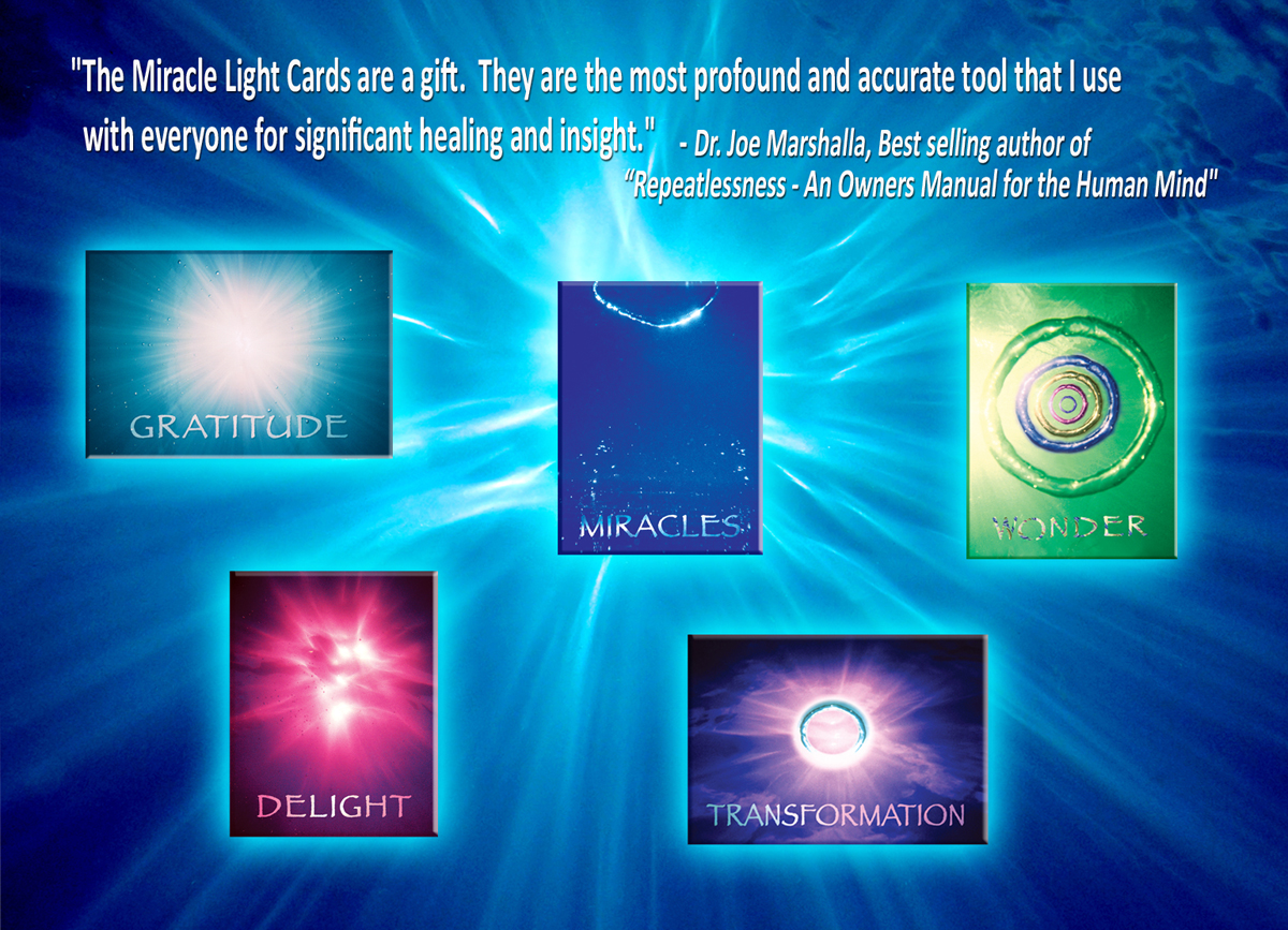 Dr Joe Marshalla endorses the Ask the Light Miracle cards for powerful Healing