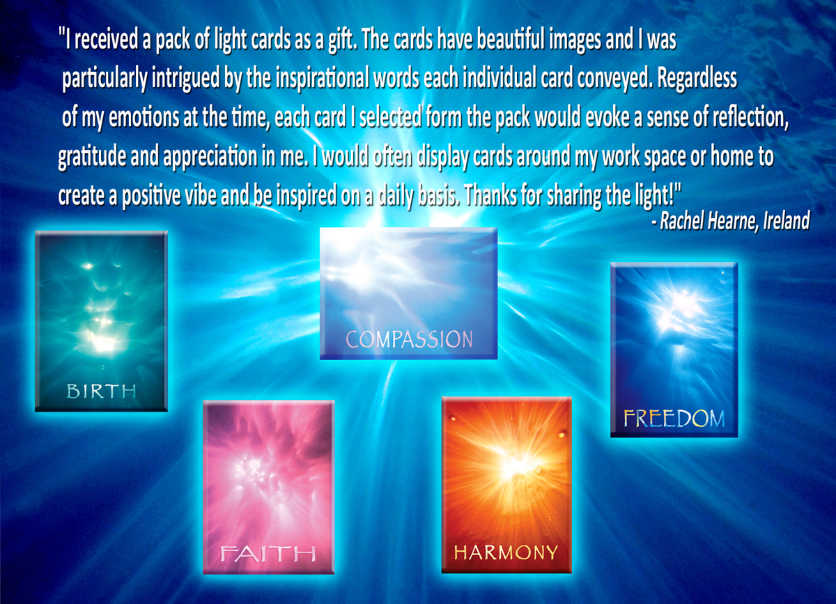 mediation, yoga, life purpose, are all expanded and enhanced using Ask the Light Miracle cards