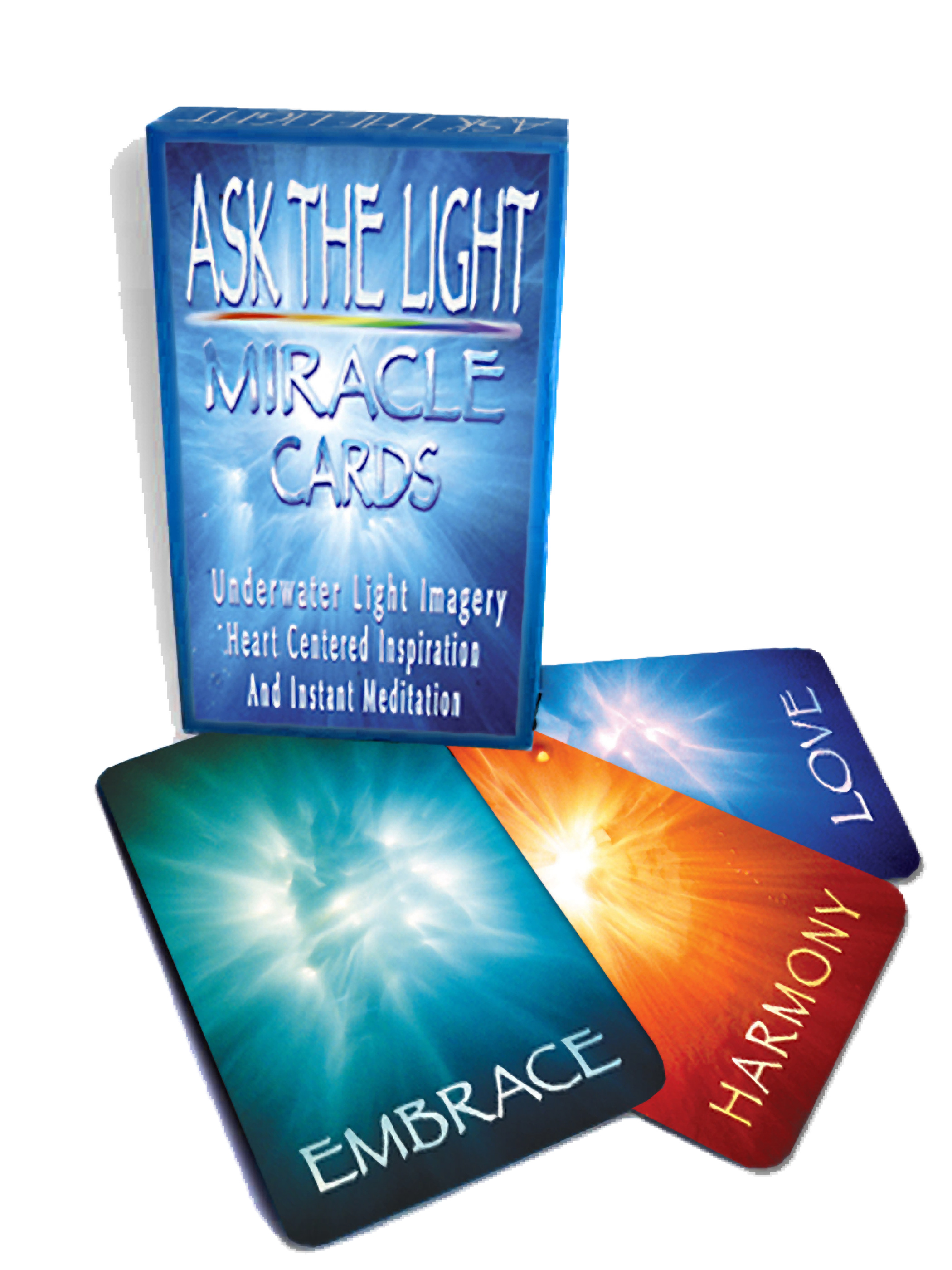 Ask the Light Miracle Cards are Healing.  They offer a way to develop your intuition and expand your awareness of your inner world.