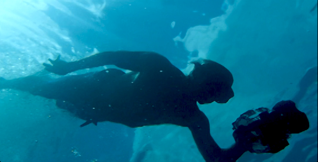 Brian Leonard underwater photographer in Barton Springs, Austin Texas