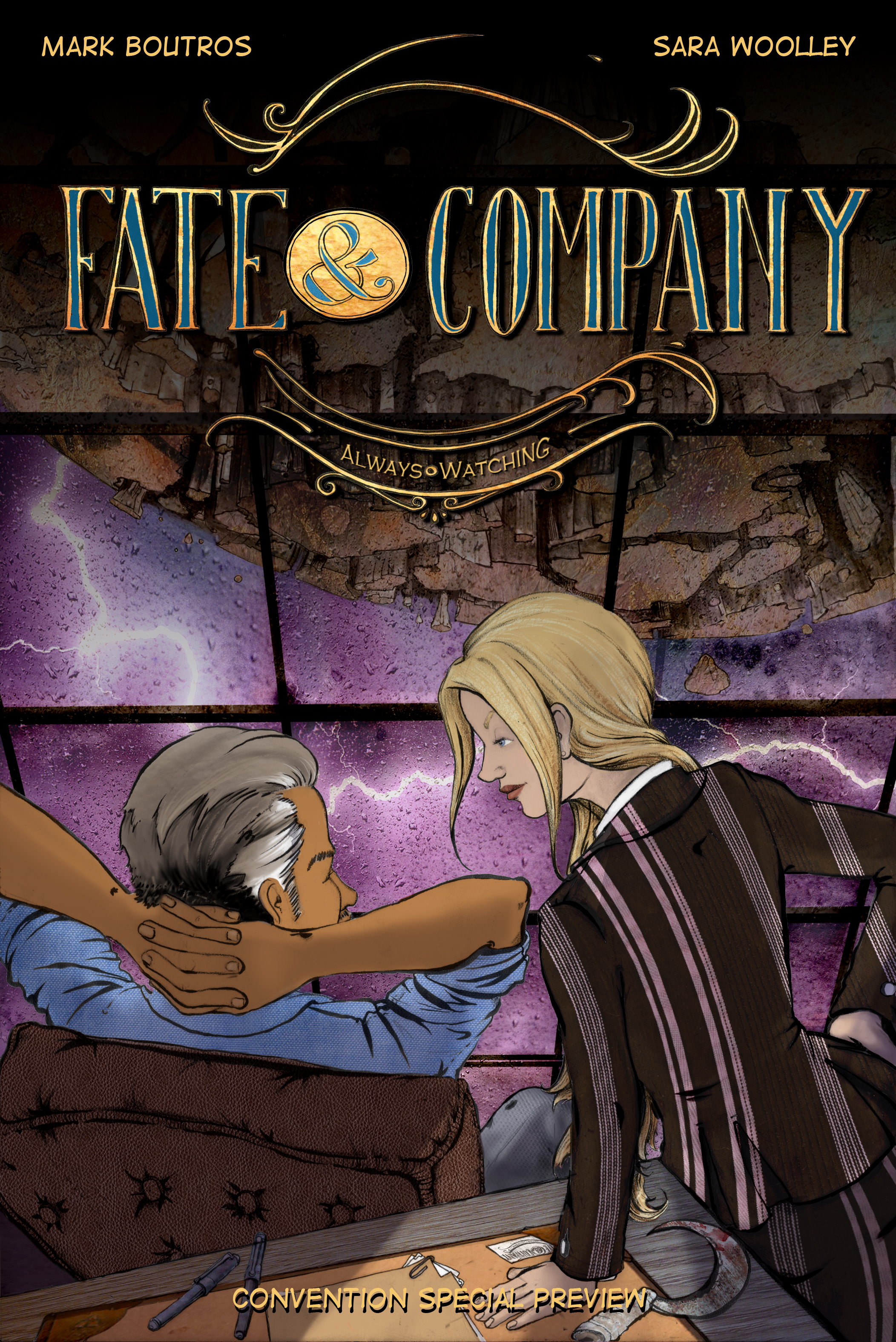 Fate & Company, an original graphic novella series created by Mark Boutros and Sara Woolley