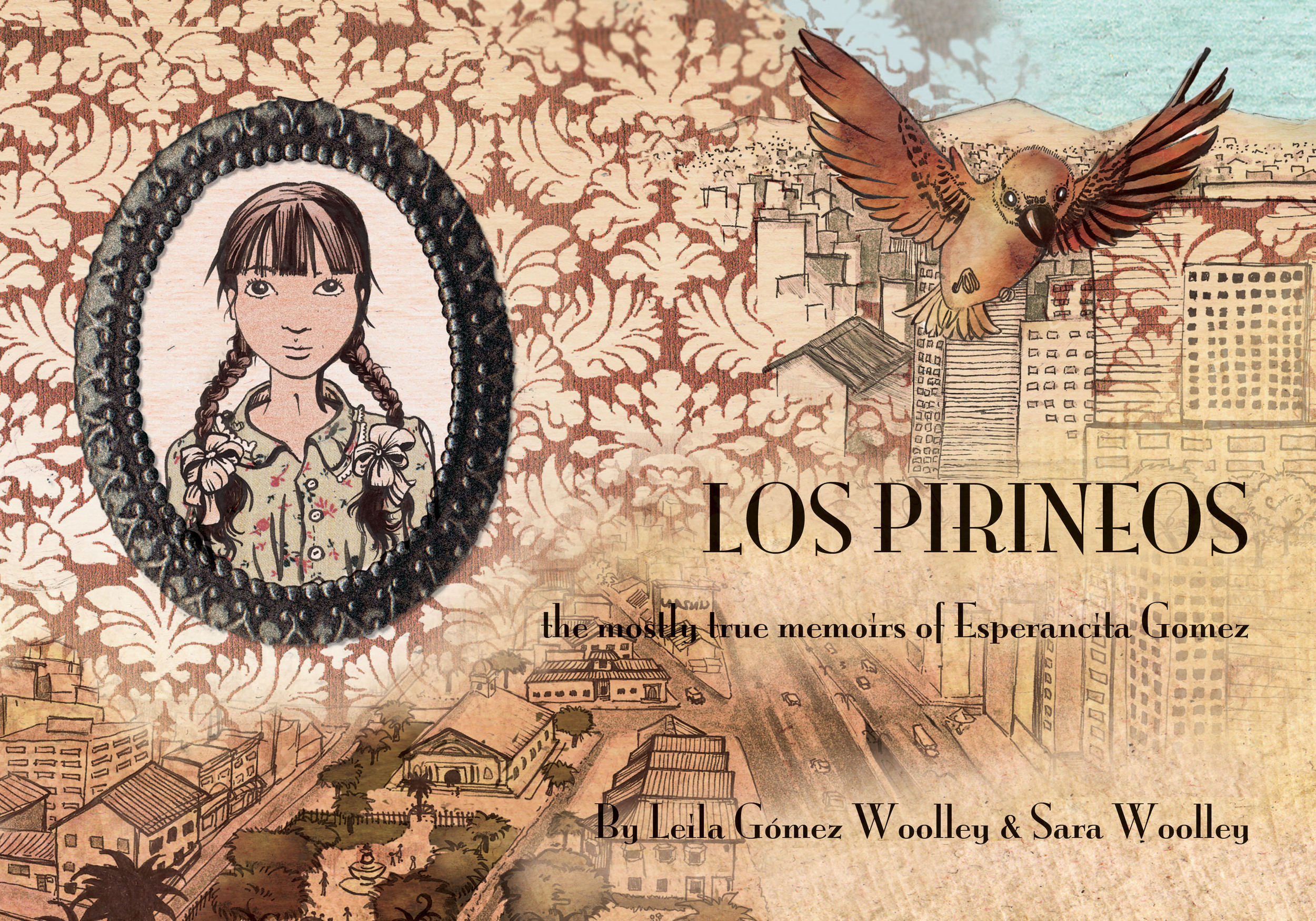 Los Pirineos, the mostly true memoirs of Esperancita Goméz, is a fictionalized graphic memoir written collaboratively with her mother and art partner Leila Gómez Woolley, and singled out for award by the National Association of Latino Arts and Culture.