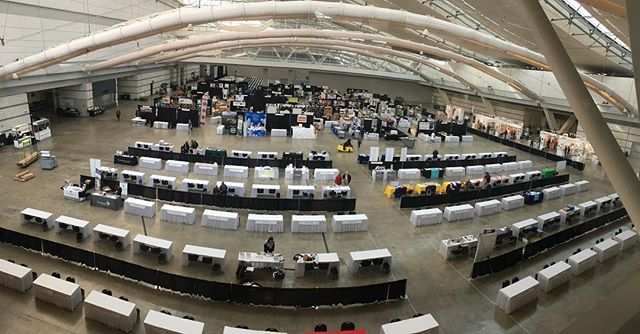 #nceca2018 vendor hall getting ready for the Mad house that is tomorrow. #thecalmbeforethestorm