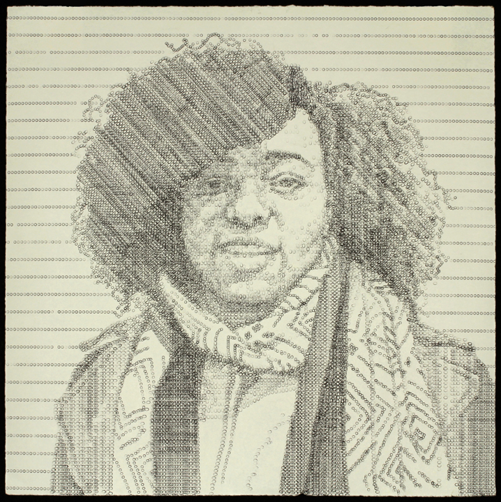 Ebony , typewritten portrait by Leslie Nichols