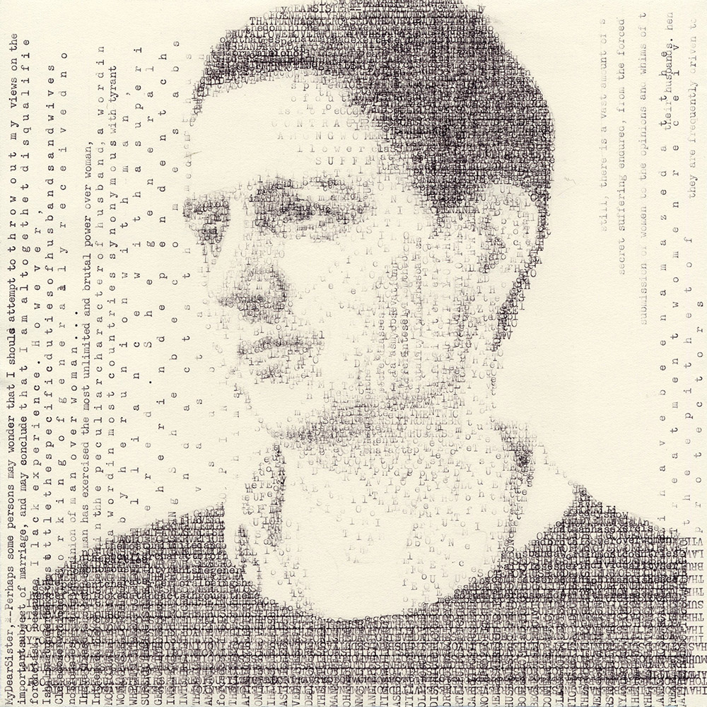Siobhan (Grimké 1837)   by Leslie Nichols is a part of the Sackner Archive of Concrete and Visual Poetry